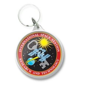 Round Multi Color Acrylic Key Tag (1 3/4